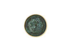 Gold pin with bronze Zeus Ammon; gold brooch; fine jewellery London