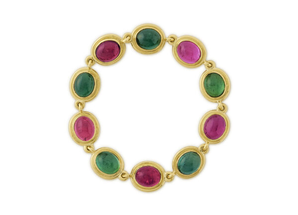 Pink & Green Tourmaline Bracelet