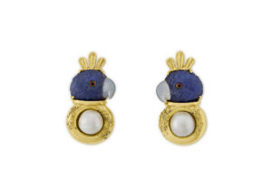 Tanzanite Parrot Earrings