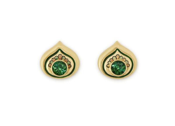 Tourmaline Peacock Earrings
