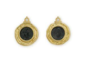 Bronze coin earrings