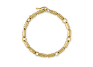 Molten Gold Small Tube Bracelet