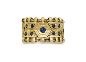 Sapphire Agincourt Ring