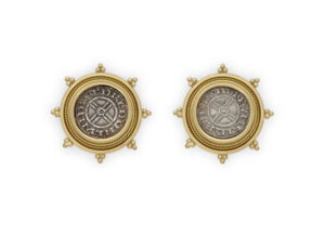 Silver coin earrings; fine jewellery London