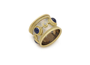 Sapphire Templar band ring