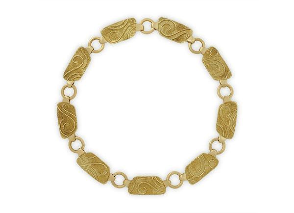 Gold plaque necklace; fine jewellery London; Elizabeth Gage